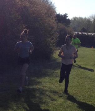 Girls running 20 April